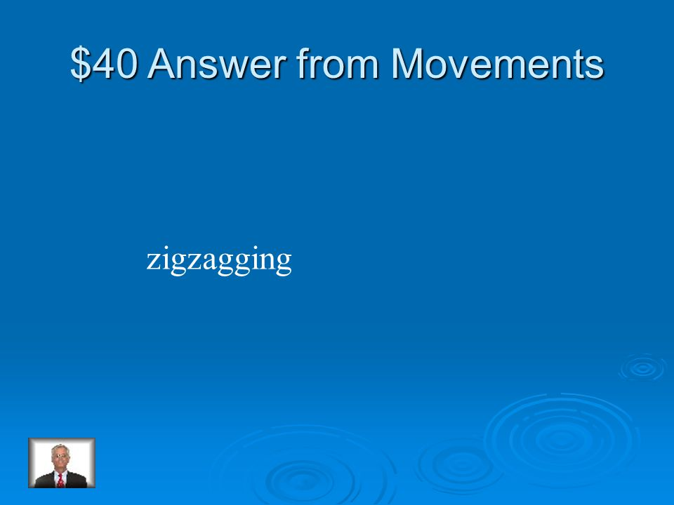 $40 Question from Movements Penguins escape their enemy by ________ in the water.