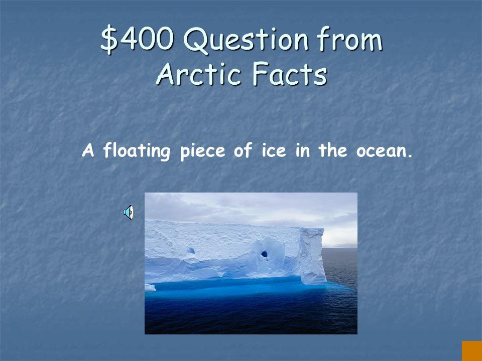 $300 Answer from Arctic Facts IGLOO