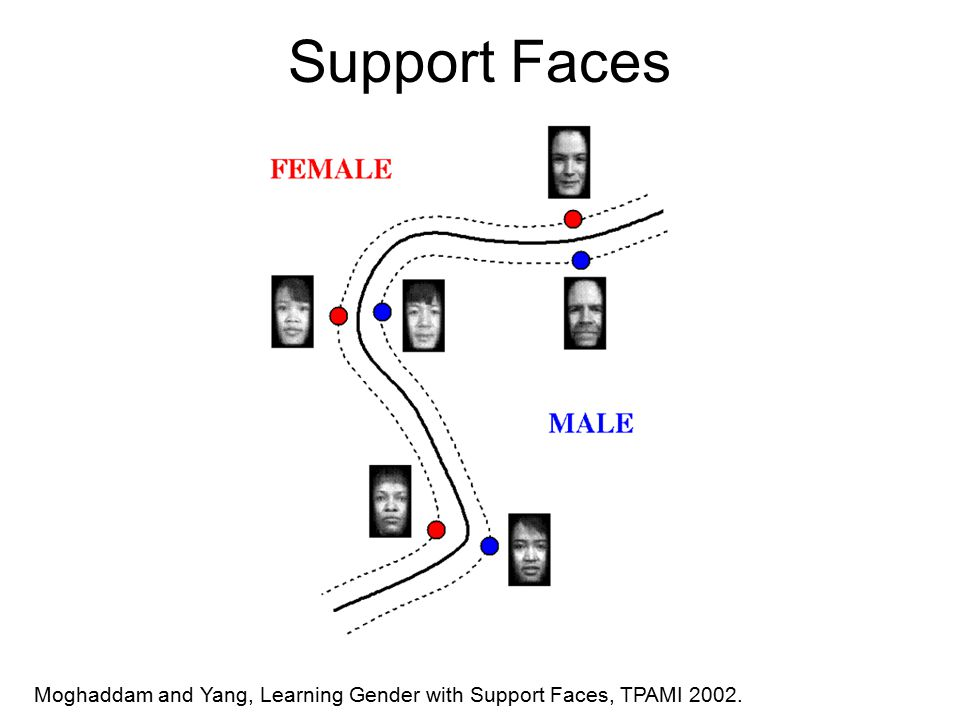 Support Faces Moghaddam and Yang, Learning Gender with Support Faces, TPAMI 2002.