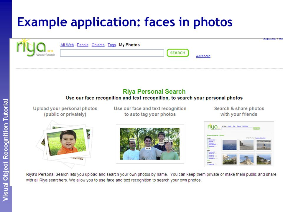 Perceptual and Sensory Augmented Computing Visual Object Recognition Tutorial Example application: faces in photos