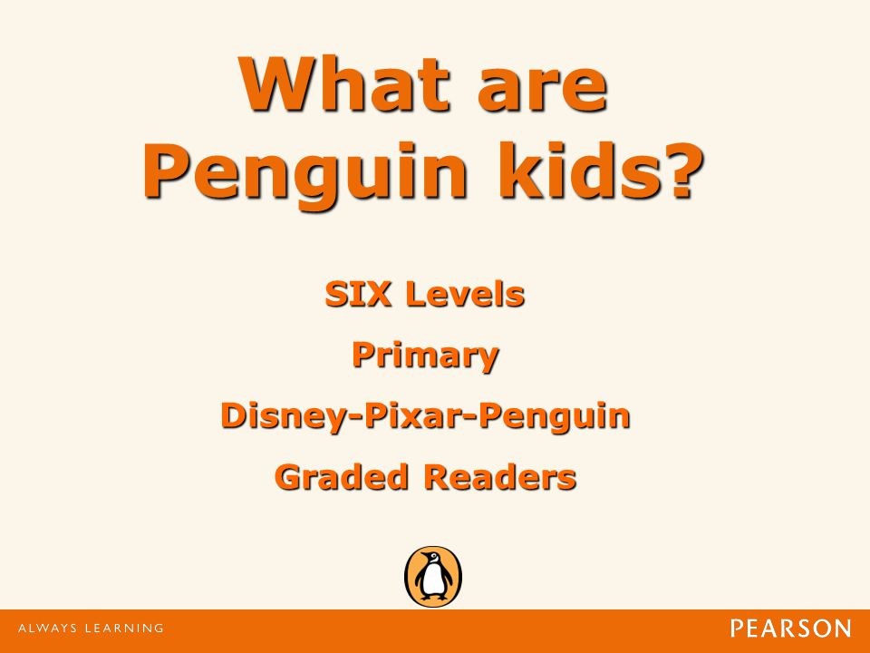 What are Penguin kids SIX Levels PrimaryDisney-Pixar-Penguin Graded Readers