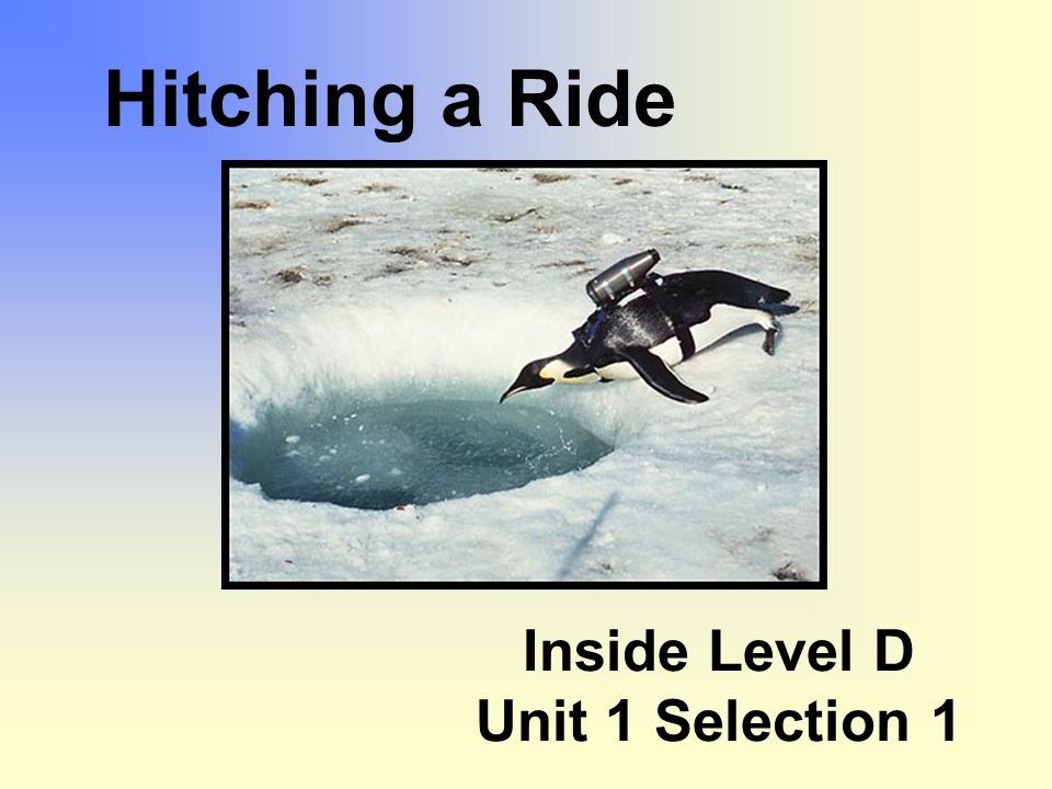 Inside Level D Unit 1 Selection 1 Hitching a Ride