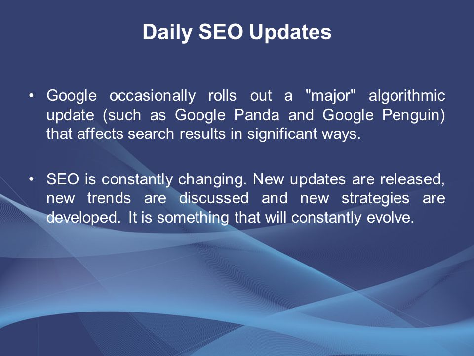 Daily SEO Updates Google occasionally rolls out a