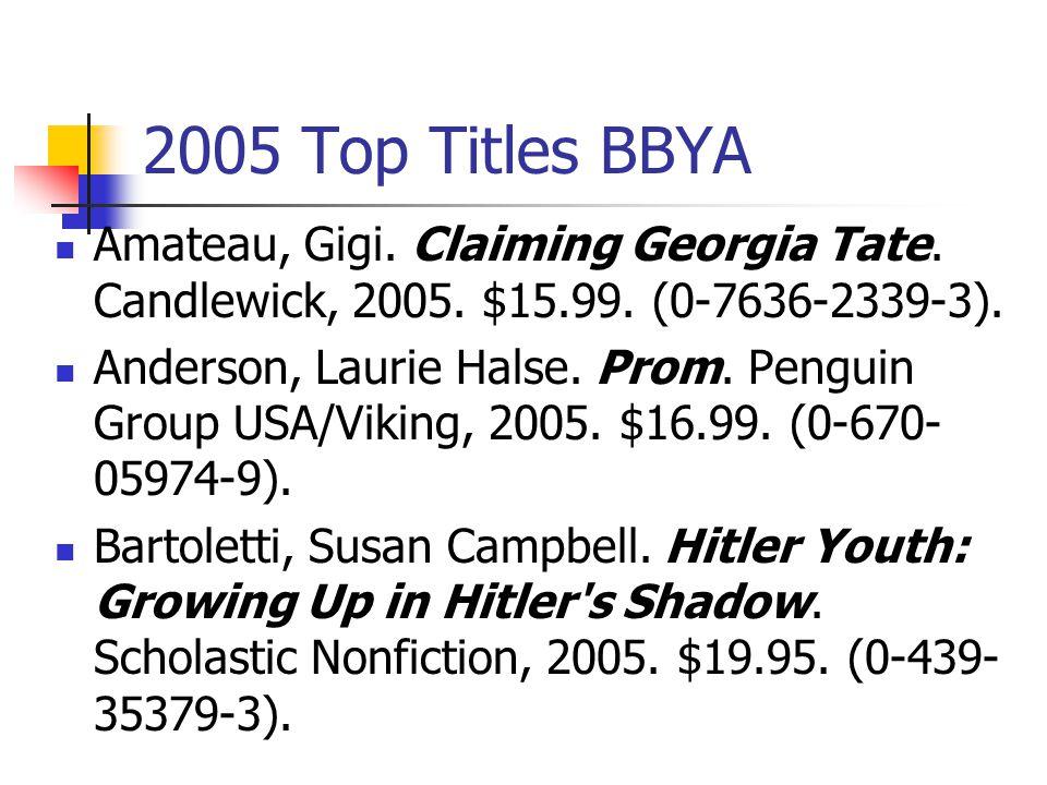 2005 Top Titles BBYA Amateau, Gigi.Claiming Georgia Tate.