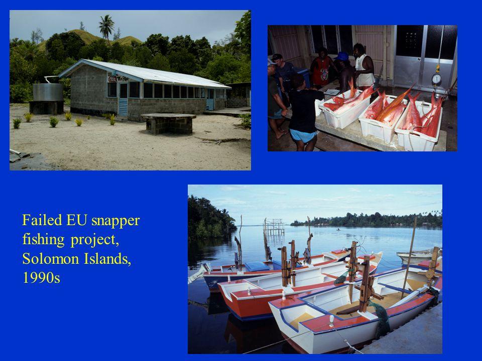 Failed EU snapper fishing project, Solomon Islands, 1990s