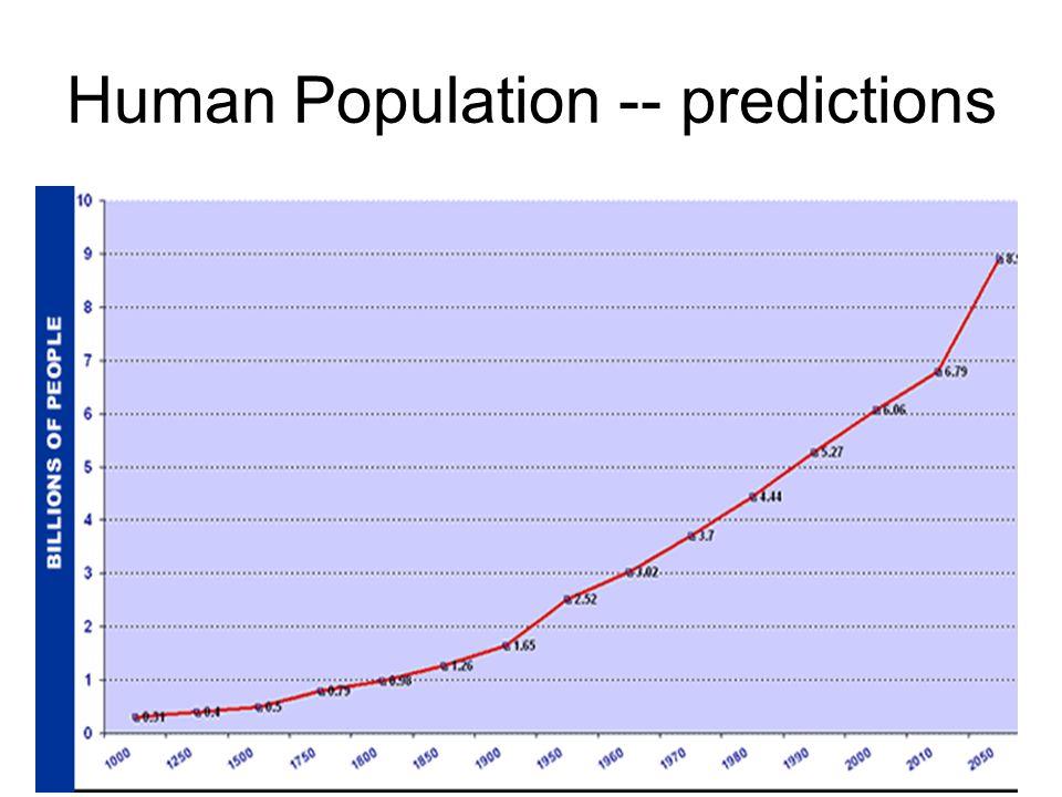 Human Population -- predictions