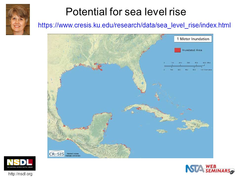 Potential for sea level rise https://www.cresis.ku.edu/research/data/sea_level_rise/index.html http://nsdl.org