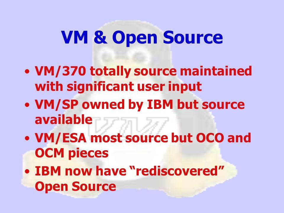 [root@penguinvm cpint]# more /proc/cpuinfo vendor_id : IBM/S390 # processors : 3 bogomips per cpu: 52.42 processor 0: version = FF, identification = 045226, machine = 9672 processor 1: version = FF, identification = 145226, machine = 9672 processor 2: version = FF, identification = 245226, machine = 9672 [root@penguinvm cpint]# more /proc/interrupts CPU0 CPU1 CPU2 0: 2964 2883 3421 none ctc0 1: 5840 2941 1920 none ctc0 3: 2 0 0 none mnd 4: 2 0 0 none mnd 5: 2 0 0 none mnd 9: 50 34 28 none 3215 terminal driver NMI: 0 IPI: 0