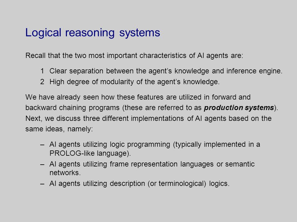 Logic programming and Prolog.
