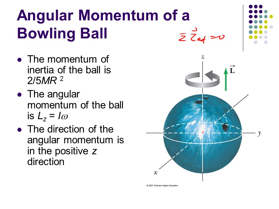 Motion of a Top The only external forces acting on the top are the normal force and the gravitational force The direction of the angular momentum is along the axis of symmetry The right-hand rule indicates that the torque is in the xy plane