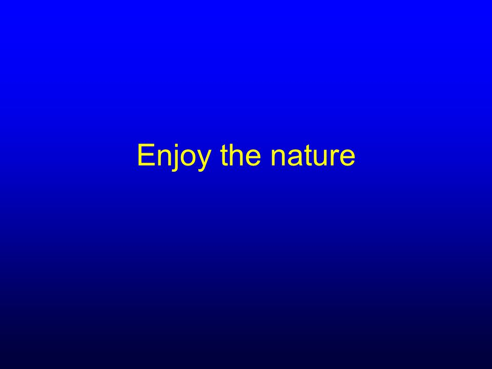Enjoy the nature