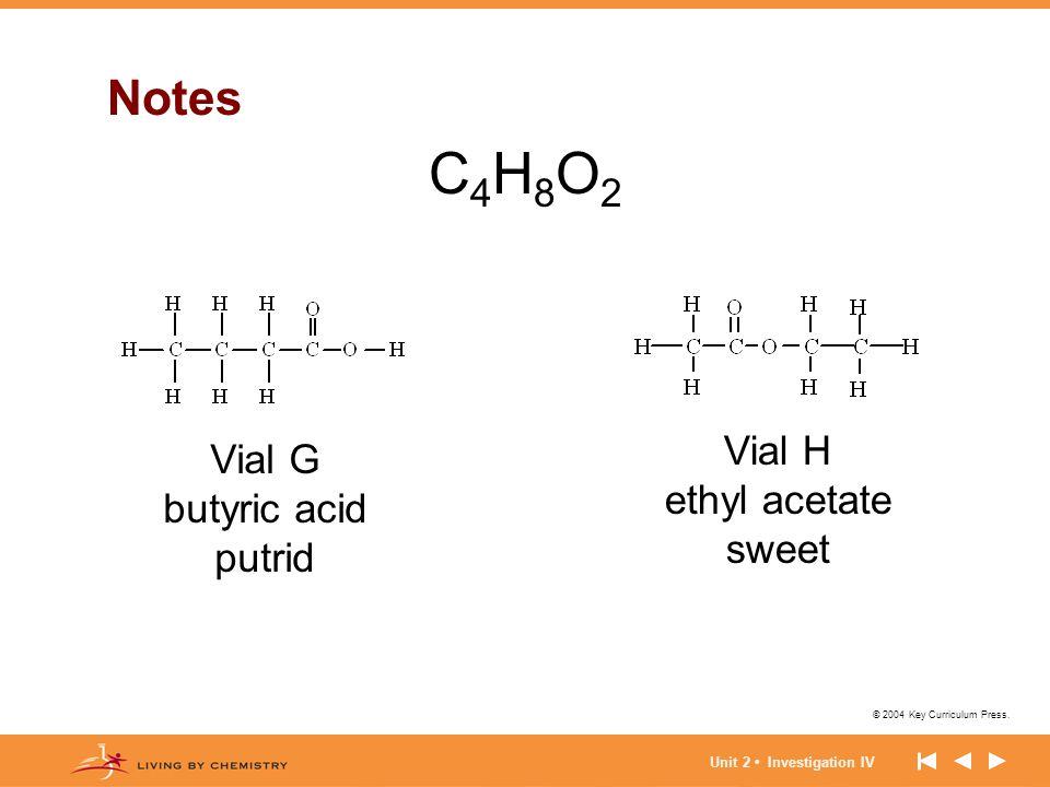 © 2004 Key Curriculum Press. Unit 2 Investigation IV Polar molecules (cont.) Notes (cont.)