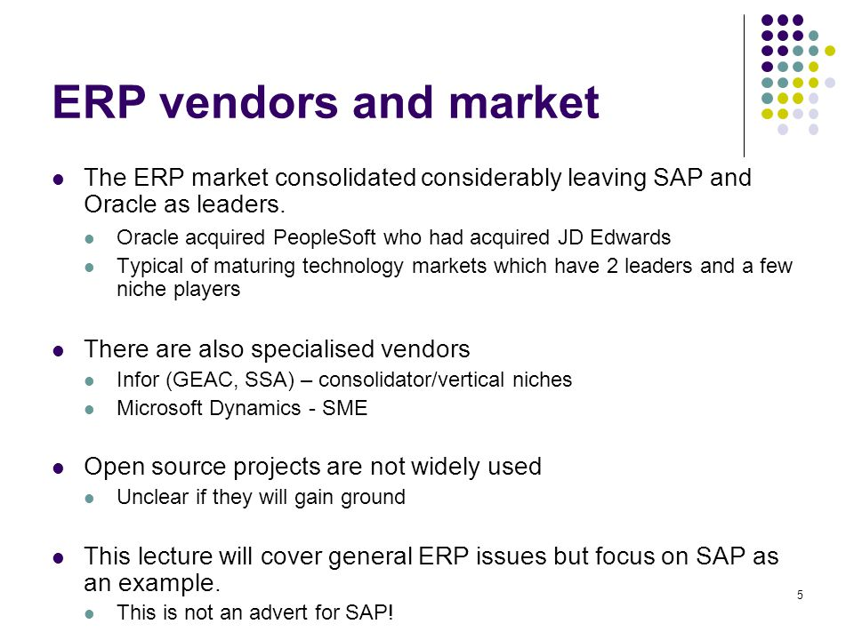 16 Functionality of an ERP e.g.