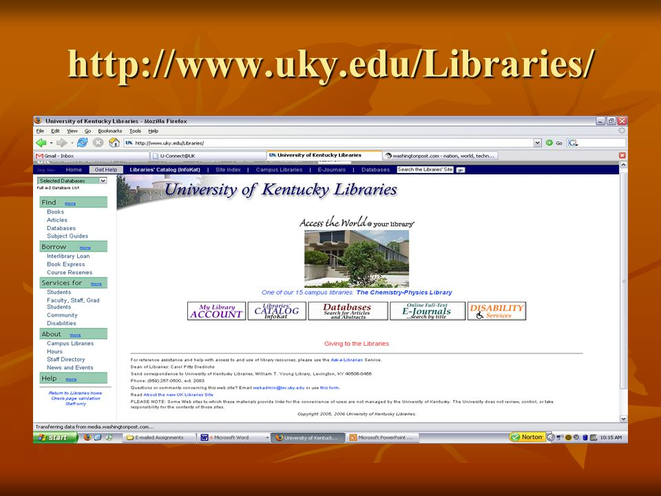 http://www.uky.edu/Libraries/