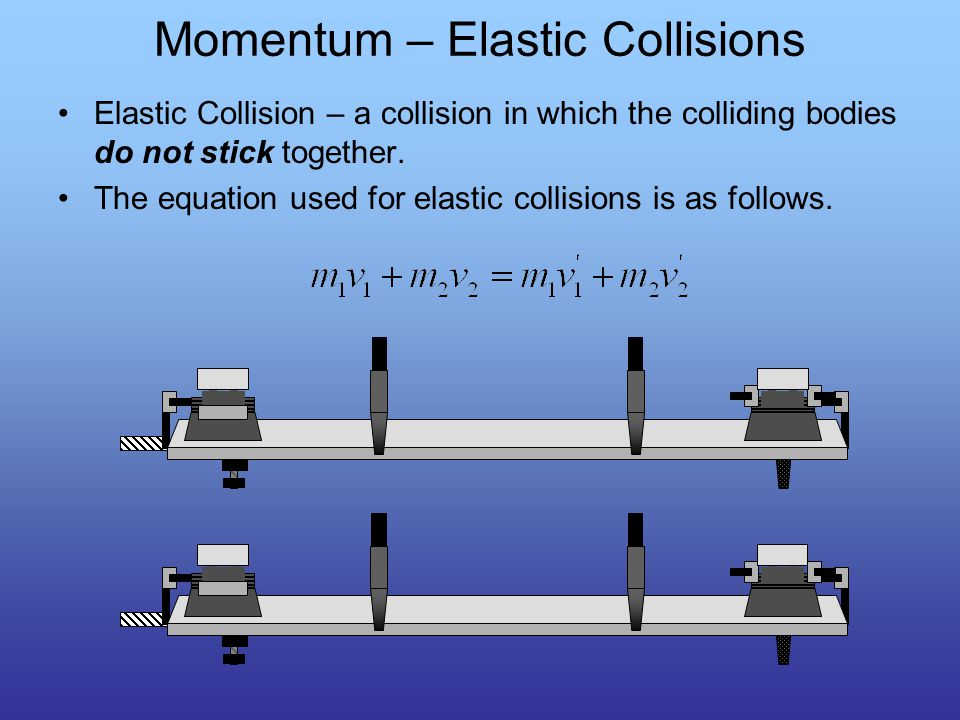 Collisions The collisions that we will study will involve two objects.