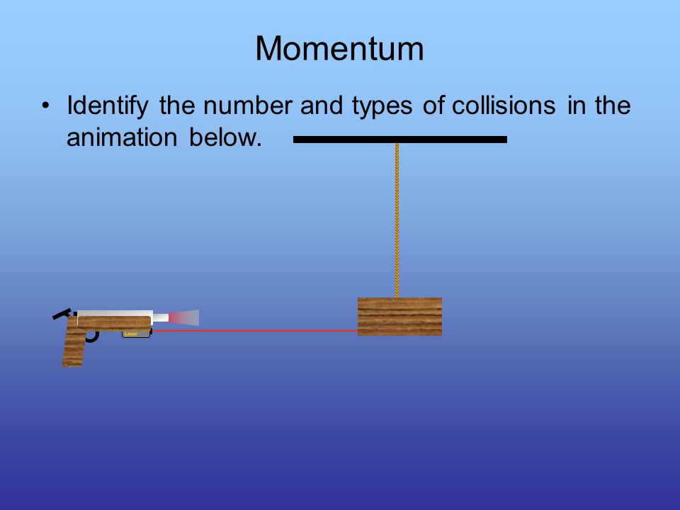 Elastic Collisions The total momentum of the system remains constant.