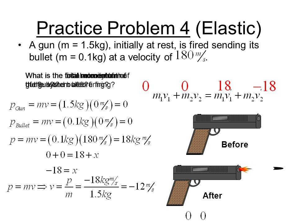 Sample Problem (Elastic) This problem will demonstrate the cannon type scenario.