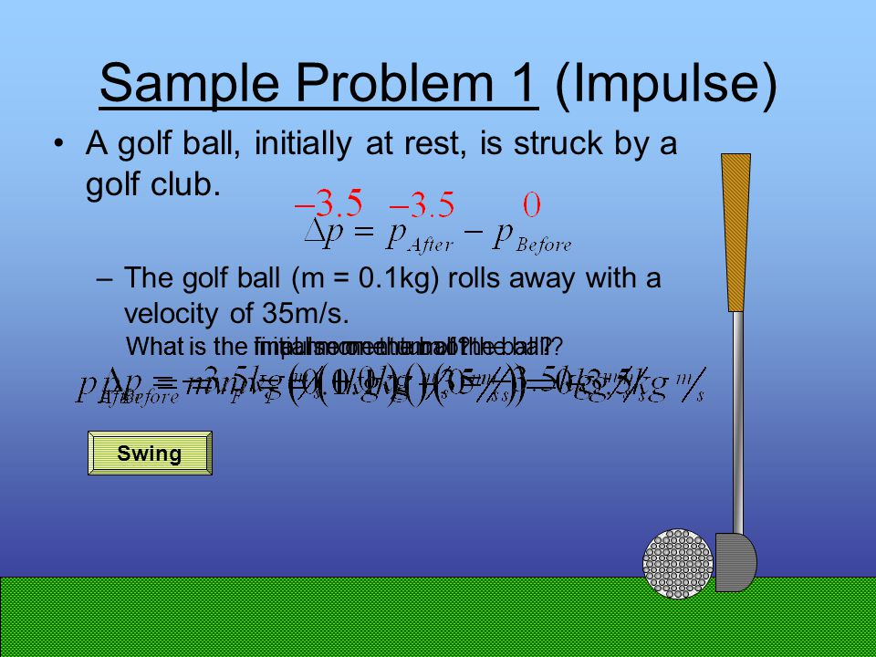 Impulse (  mv) There are two ways to calculate impulse: –You can subtract initial momentum from final momentum.