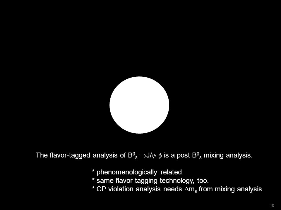 The flavor-tagged analysis of B 0 s  J/  is a post B 0 s mixing analysis.