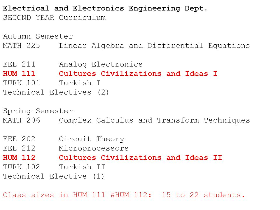 Electrical and Electronics Engineering Dept.