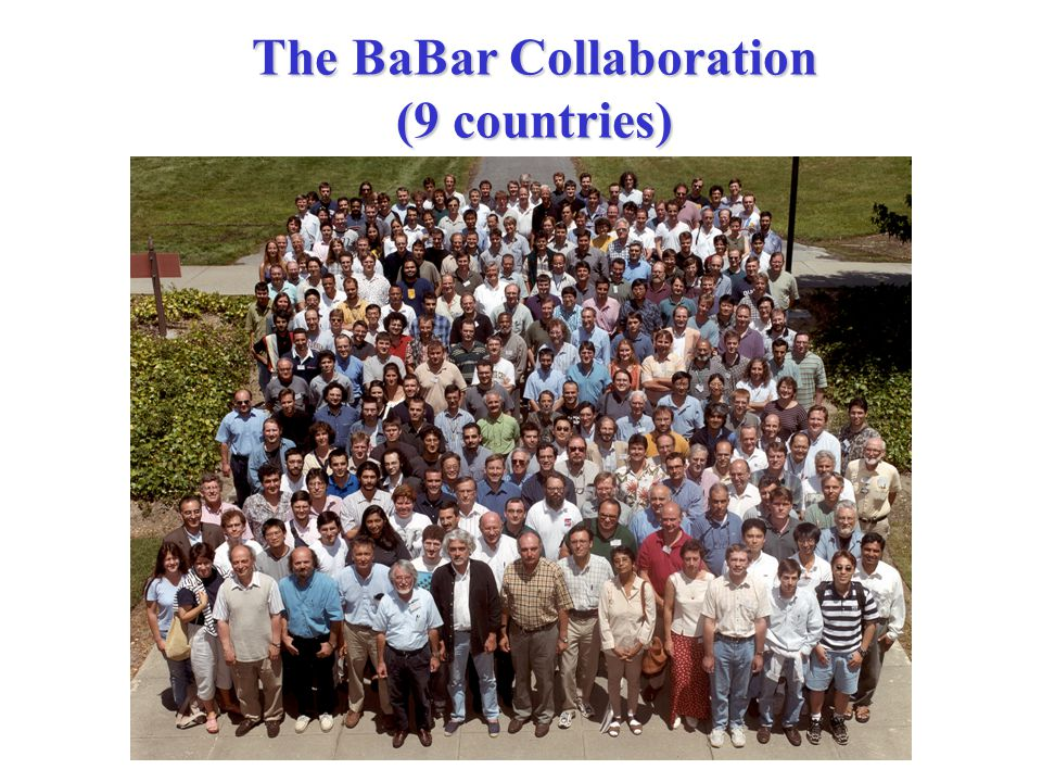 The BaBar Collaboration (9 countries)