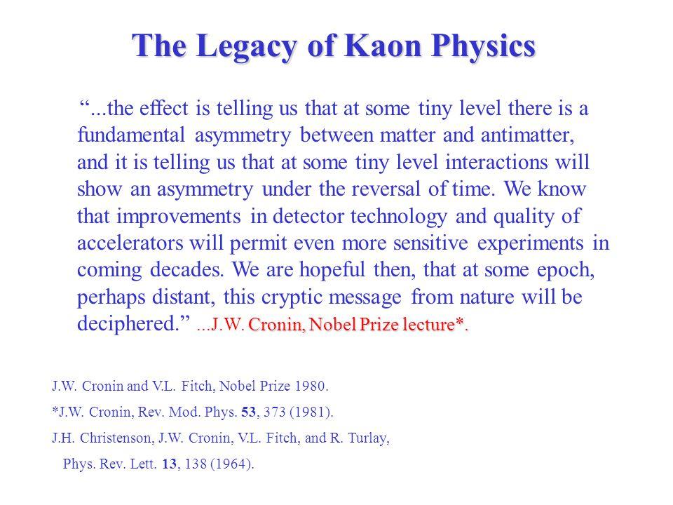 Cronin, Nobel Prize lecture*.