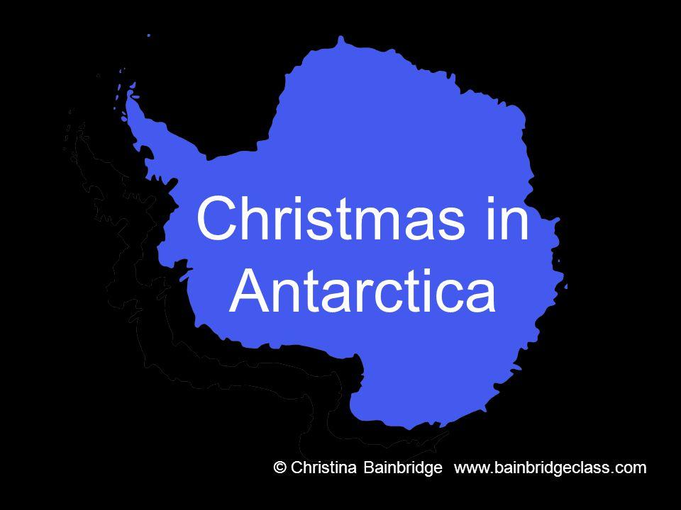 Christmas in Antarctica © Christina Bainbridge www.bainbridgeclass.com