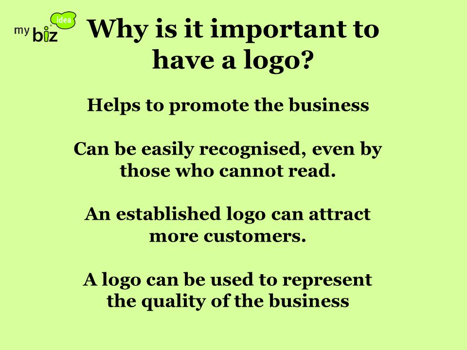 Why is it important to have a logo.