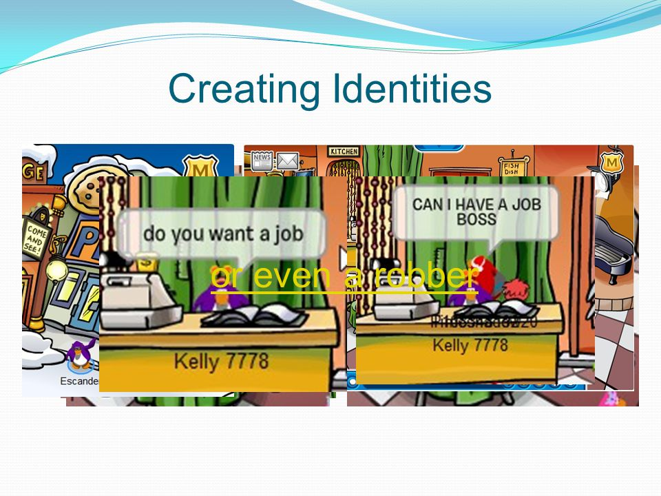 Creating Identities or even a robber