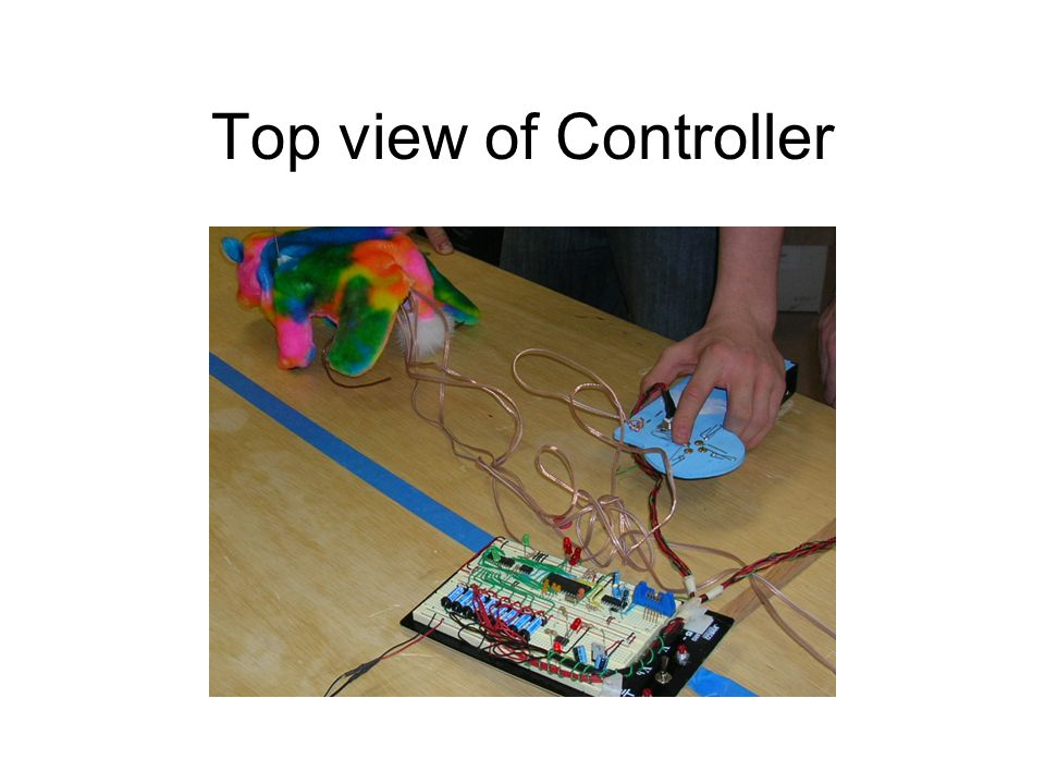 Top view of Controller
