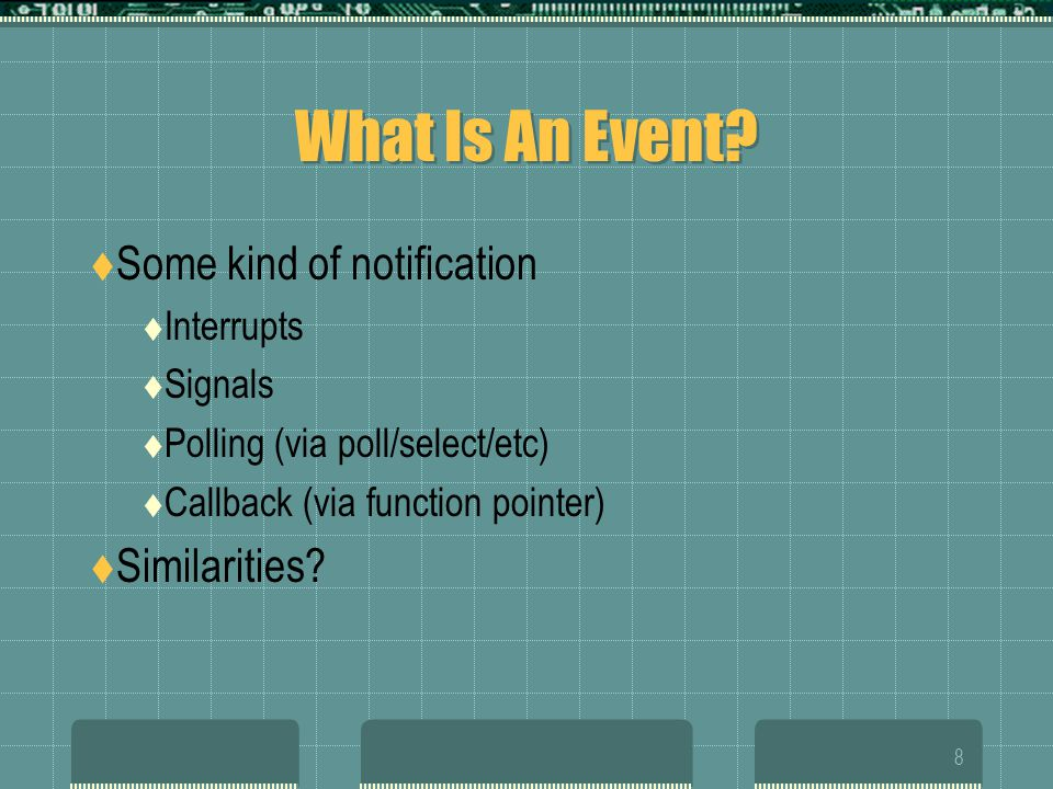 8 What Is An Event.