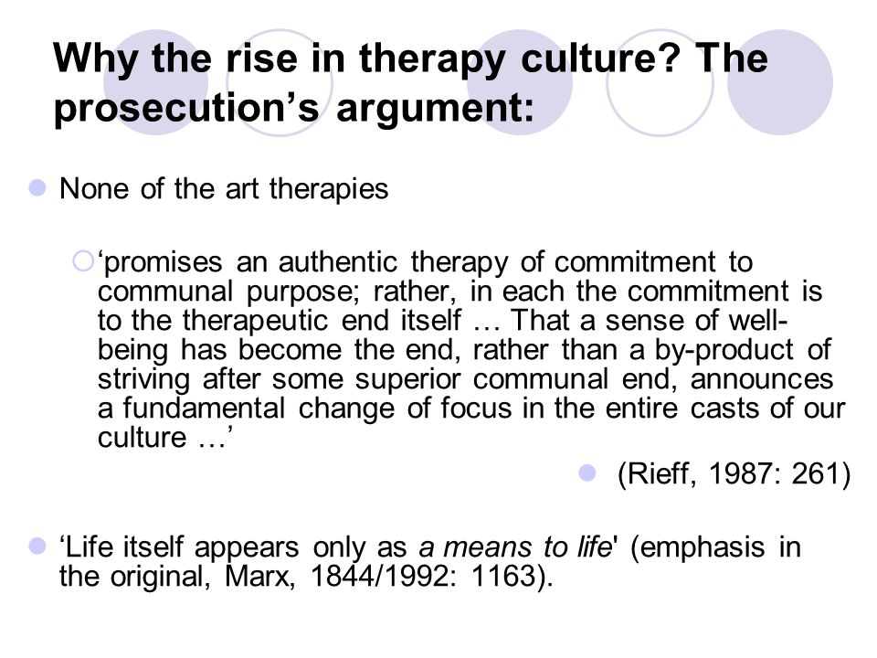 Why the rise in therapy culture.
