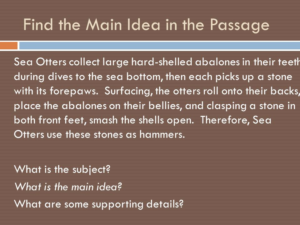Find the Main Idea in the Passage In high school, I tried writing my own novels and short stories.