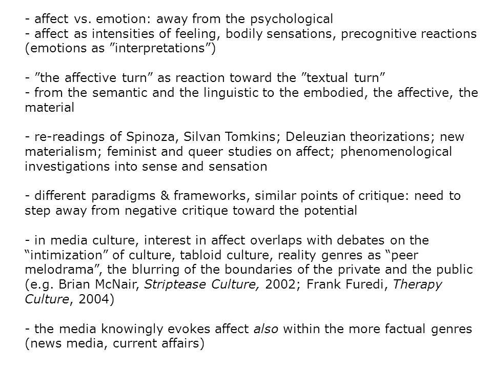 - affect vs.