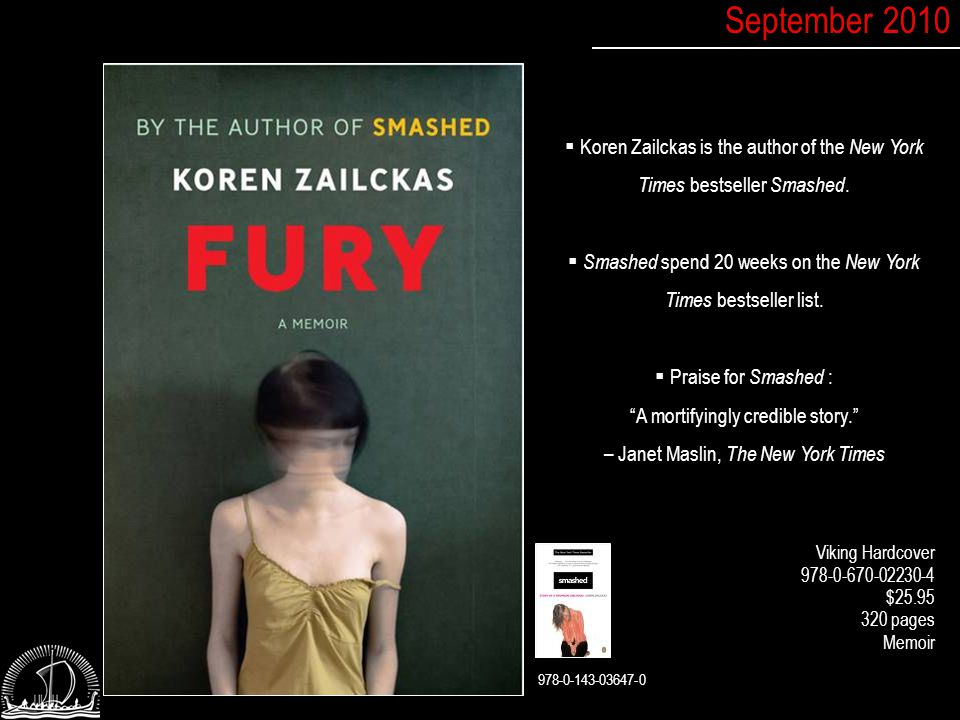  Koren Zailckas is the author of the New York Times bestseller Smashed.