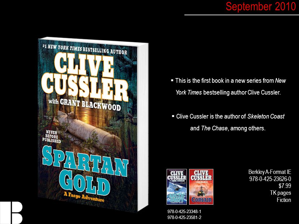  This is the first book in a new series from New York Times bestselling author Clive Cussler.