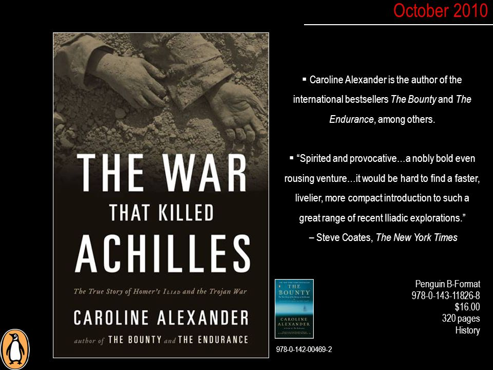  Caroline Alexander is the author of the international bestsellers The Bounty and The Endurance, among others.