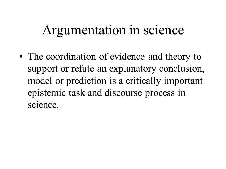 Argument and argumentation Argument: a referent to the claim, data, warrants and backings that form the substance or content of an argument.