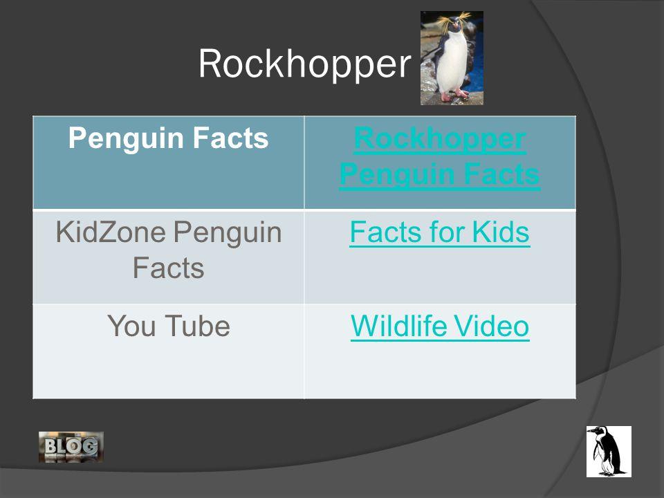 Rockhopper Penguin FactsRockhopper Penguin Facts KidZone Penguin Facts Facts for Kids You TubeWildlife Video
