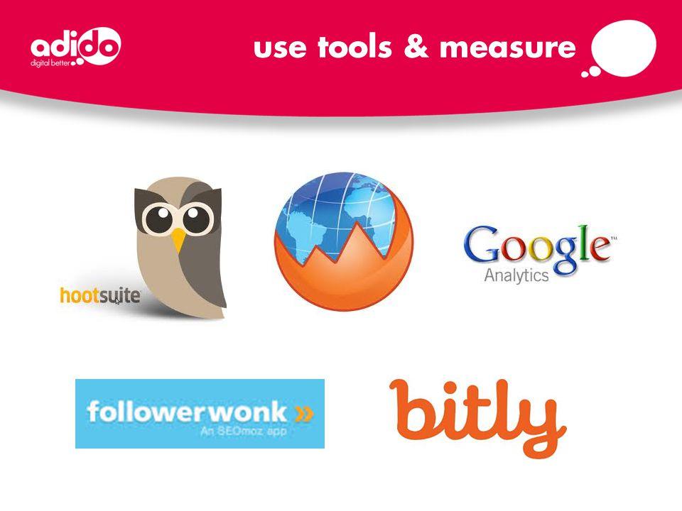 use tools & measure