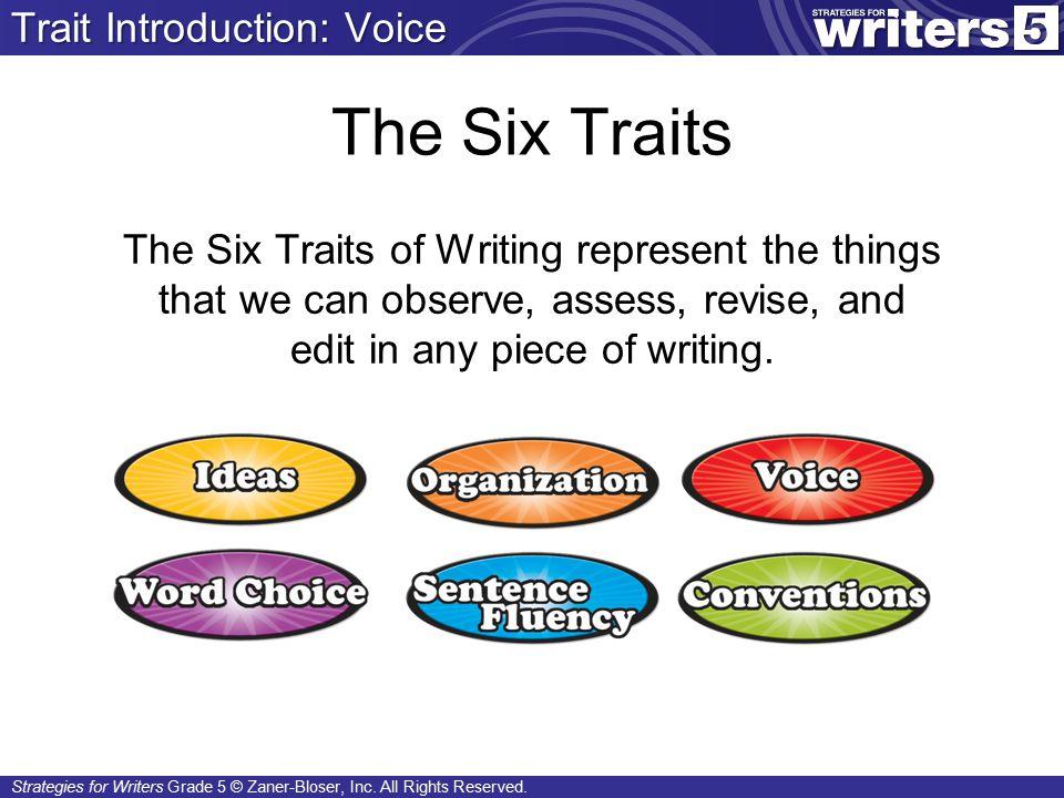 Strategies for Writers Grade 5 © Zaner-Bloser, Inc.