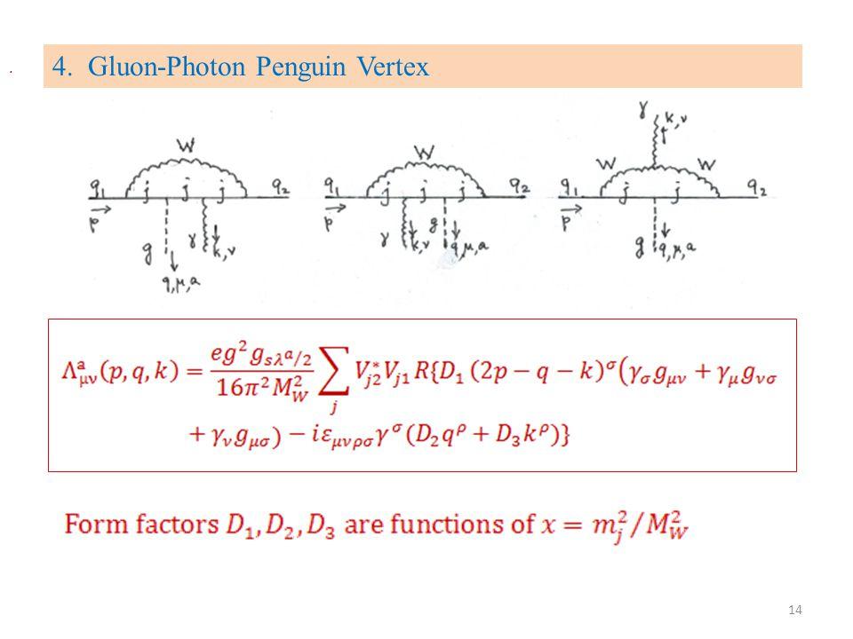 4. Gluon-Photon Penguin Vertex. 14