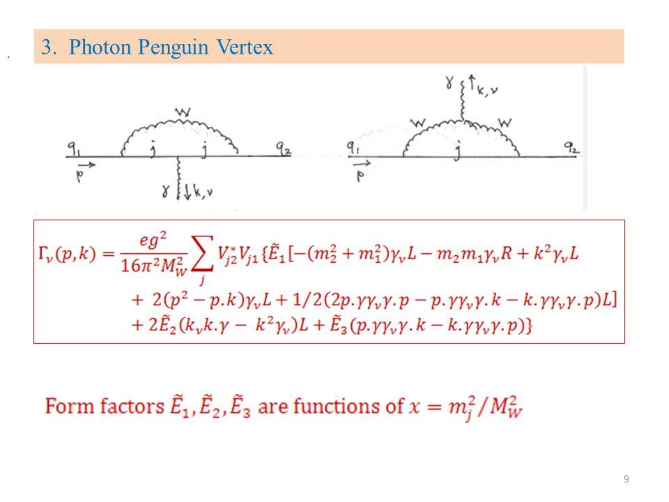 3. Photon Penguin Vertex. 9