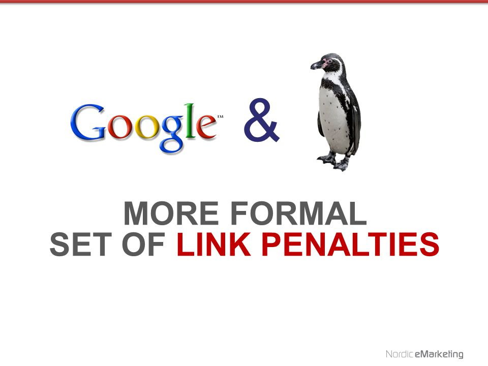 IS A PENALTY / FILTER PENGUIN AIMED AT SEO