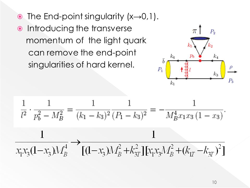  The End-point singularity (x→0,1).
