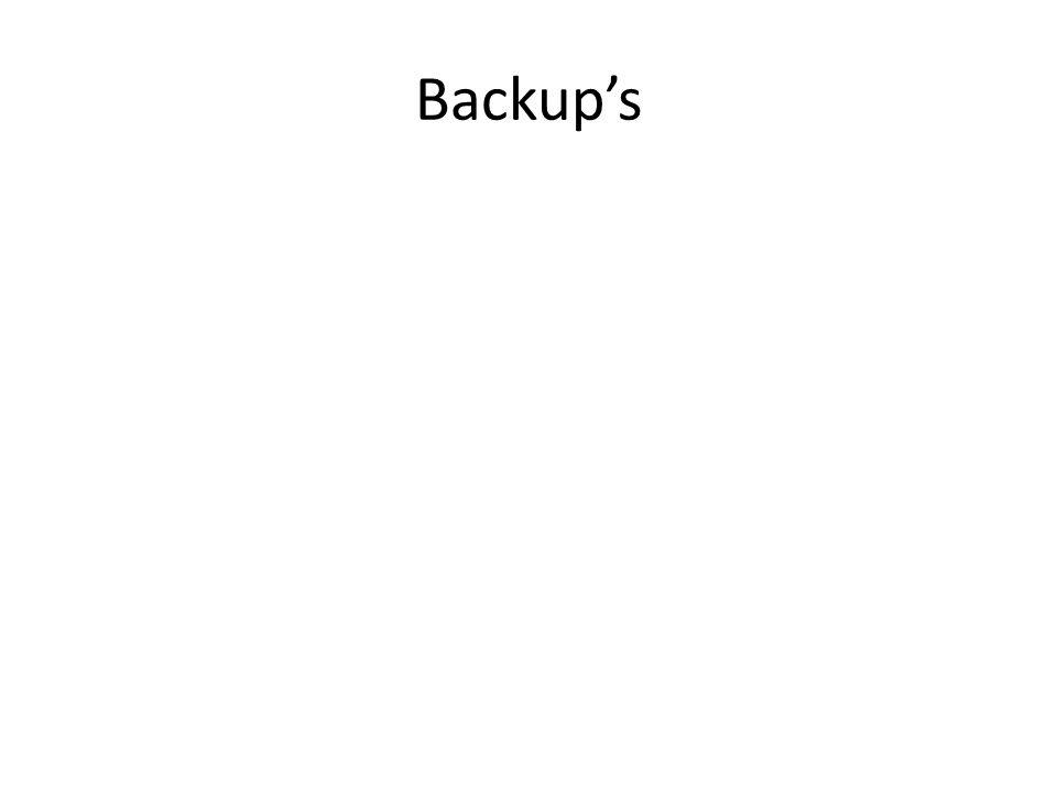 Backup's