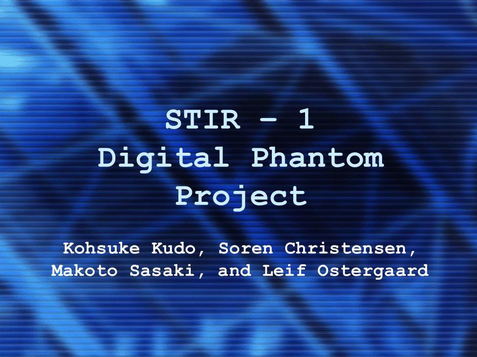 STIR – 1 Digital Phantom Project Kohsuke Kudo, Soren Christensen, Makoto Sasaki, and Leif Ostergaard