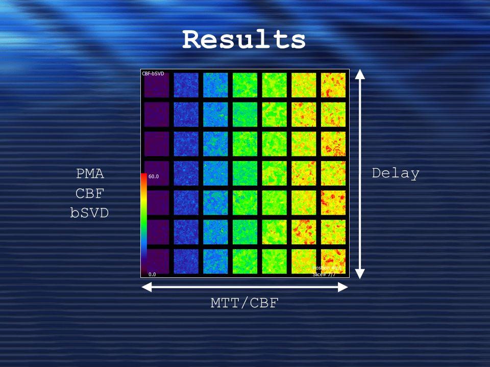 Results PMA CBF bSVD Delay MTT/CBF