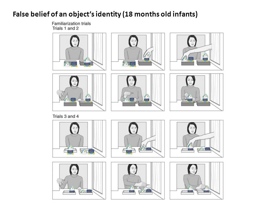 False belief of an object's identity (18 months old infants)