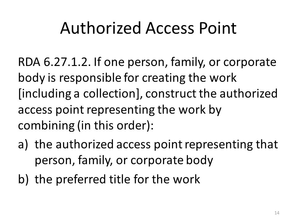 Authorized Access Point RDA 6.27.1.2.